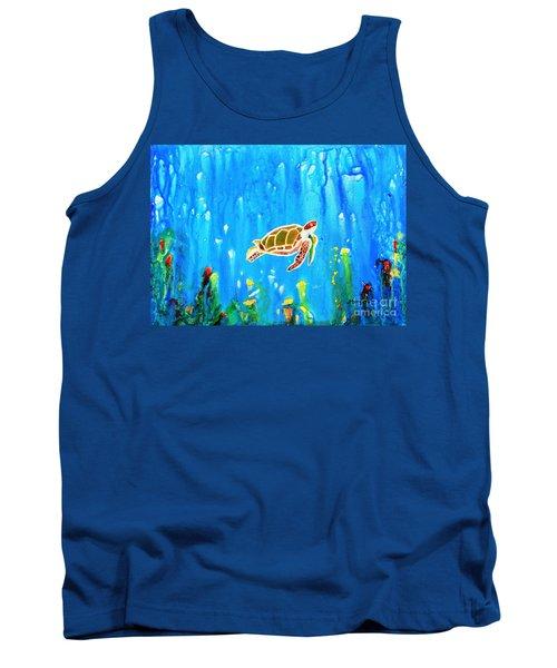 Underwater Magic 5-happy Turtle Tank Top