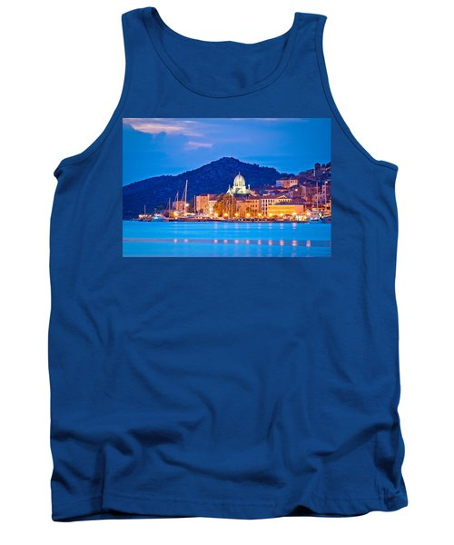 Unesco Town Of Sibenik Blue Hour View Tank Top by Brch Photography