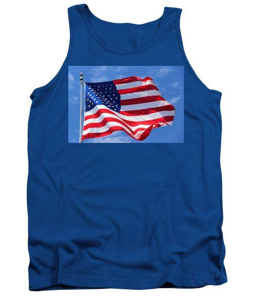 Tank Top featuring the photograph United States Flag by Elizabeth Budd