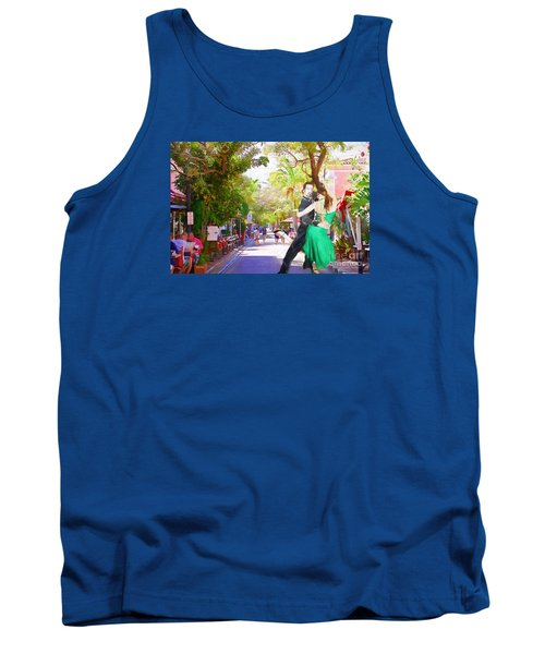 Tank Top featuring the painting Urban Dancers  by Judy Kay