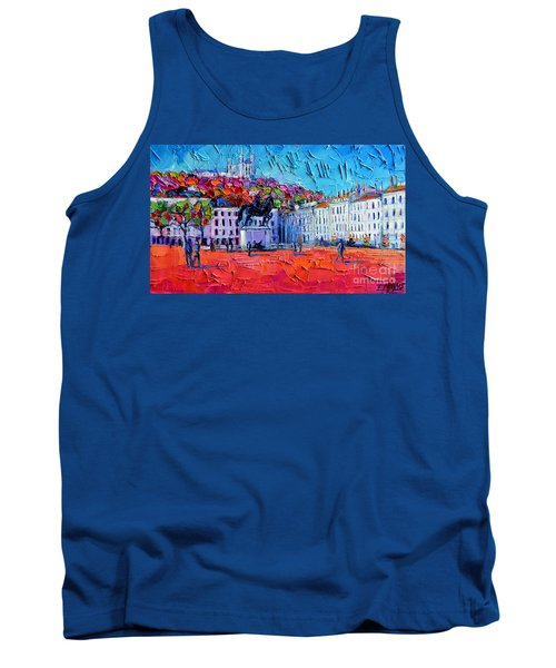 Urban Impression - Bellecour Square In Lyon France Tank Top