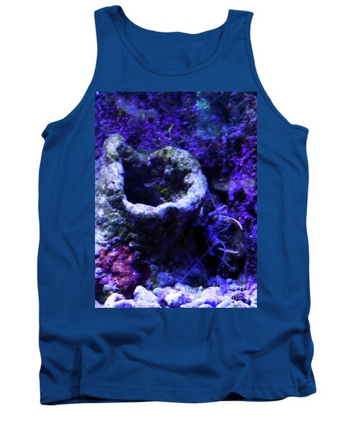Tank Top featuring the digital art Uw Coral Stone by Francesca Mackenney