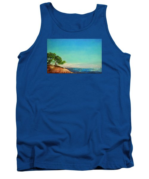 Tank Top featuring the painting Vacanza Permanente by Maja Sokolowska