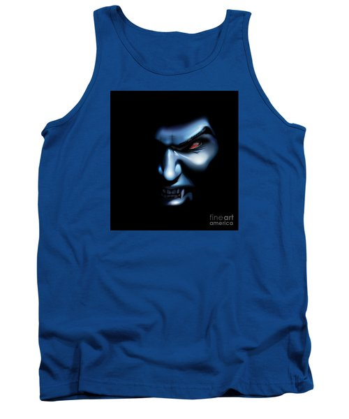 Tank Top featuring the drawing Vampires Rage by Brian Gibbs