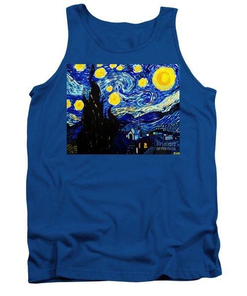 Van Gogh Starry Night  Tank Top by Scott D Van Osdol