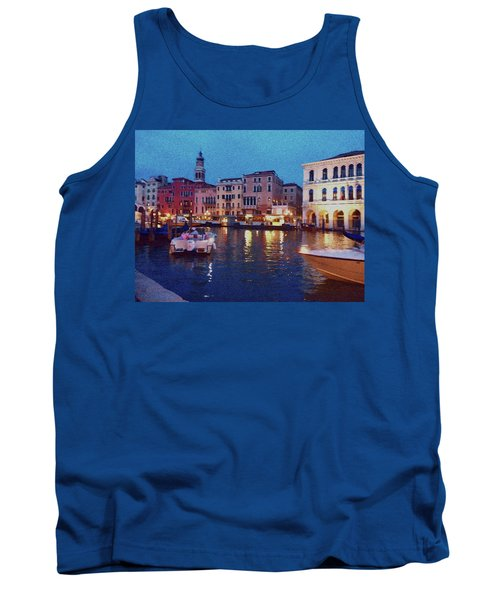 Tank Top featuring the photograph Venice By Night by Anne Kotan