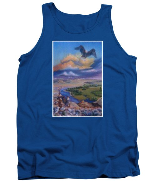 Tank Top featuring the painting View From Sheep Rock by Dawn Senior-Trask