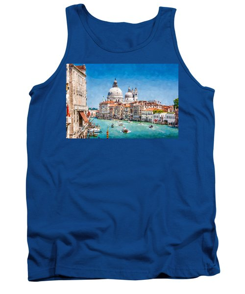 Tank Top featuring the digital art View Of Canal Grande by Kai Saarto