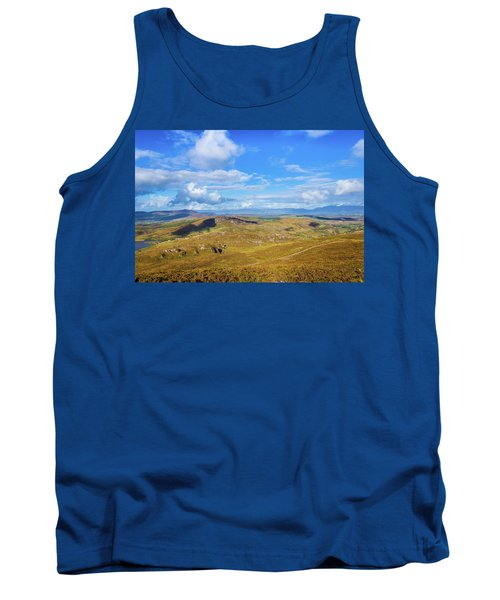 Tank Top featuring the photograph View Of The Mountains And Valleys In Ballycullane In Kerry Irela by Semmick Photo