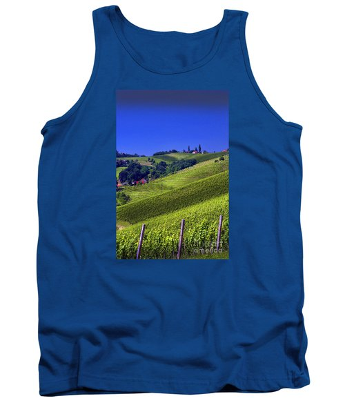 Tank Top featuring the photograph Vineyards Of Jerusalem Slovenia by Graham Hawcroft pixsellpix