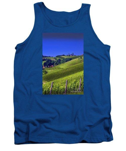 Vineyards Of Jerusalem Slovenia Tank Top by Graham Hawcroft pixsellpix
