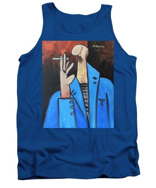 Vitae The Smoker In A Blue Blazer  Tank Top