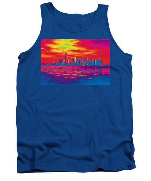 Vivid Skyline Of New York City, United States Tank Top