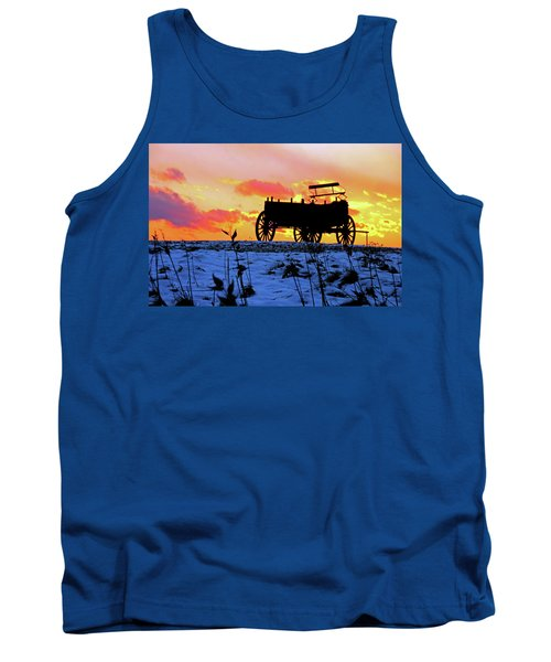 Wagon Hill At Sunset Tank Top