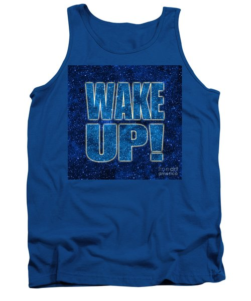 Wake Up Space Background Tank Top