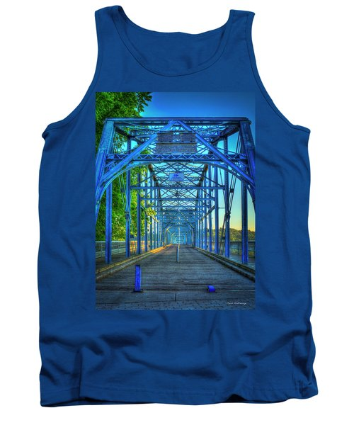 Walking Tall Walnut Street Pedestrian Bridge Art Chattanooga Tennessee Tank Top
