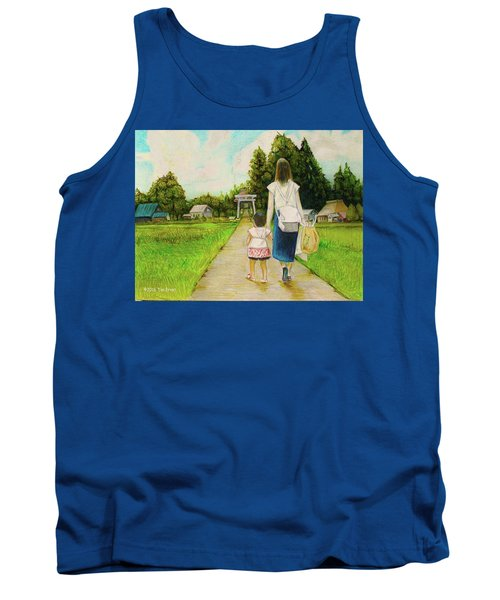 Walking To The Shrine Tank Top by Tim Ernst
