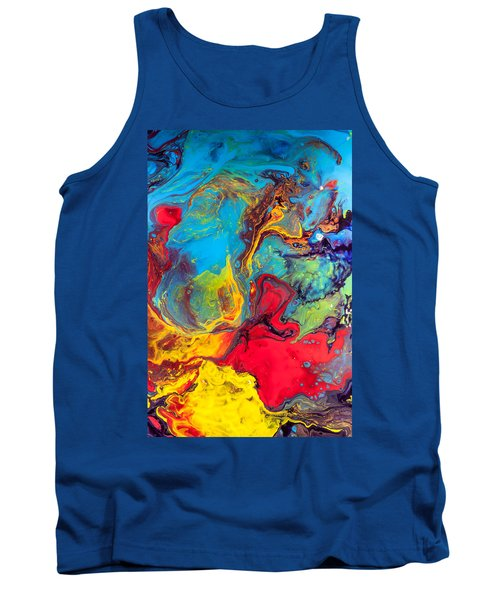 Wanderer - Abstract Colorful Mixed Media Painting Tank Top