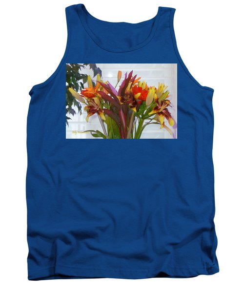 Warm Colored Flowers Tank Top