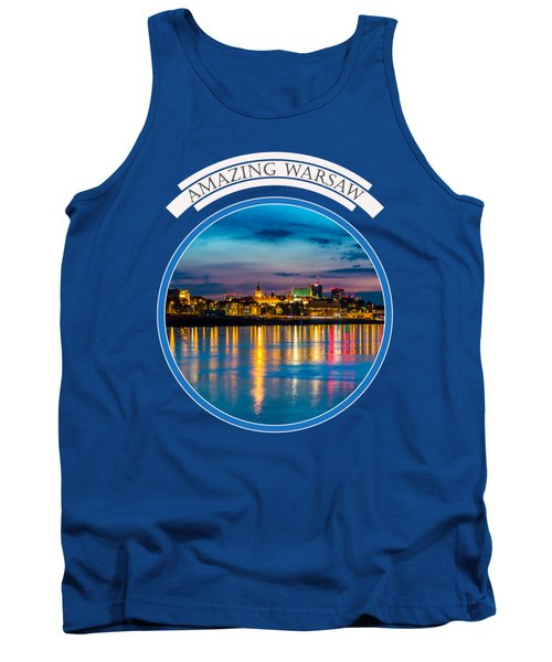 Warsaw Souvenir T-shirt Design 1 Blue Tank Top