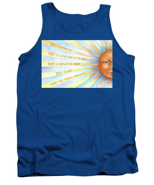 Was A Sunny Day Tank Top