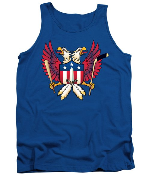 Washington Dc-double Eagle Sports Fan Crest Tank Top