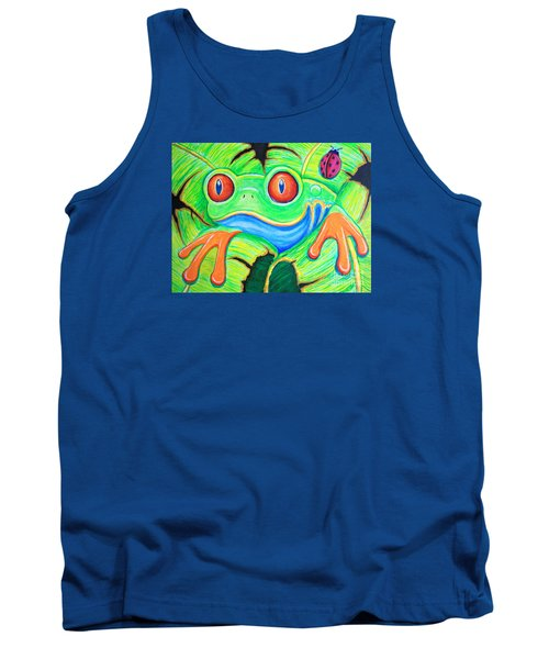 Watching You Red Eyed Tree Frog Tank Top