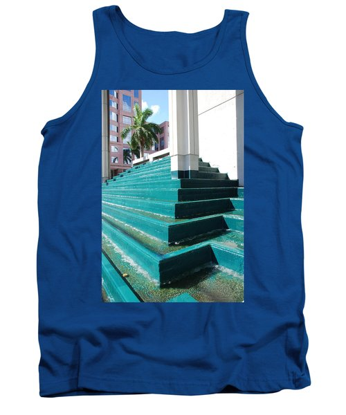 Tank Top featuring the photograph Water At The Federl Courthouse by Rob Hans
