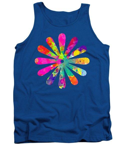 Watercolor Flower 2 - Tee Shirt Design Tank Top by Debbie Portwood