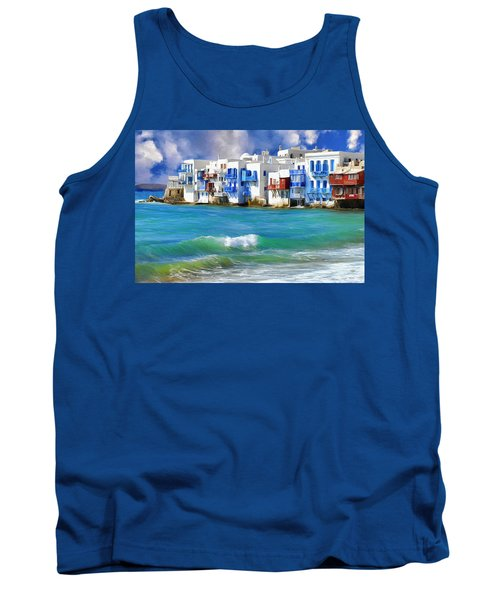 Waterfront At Mykonos Tank Top
