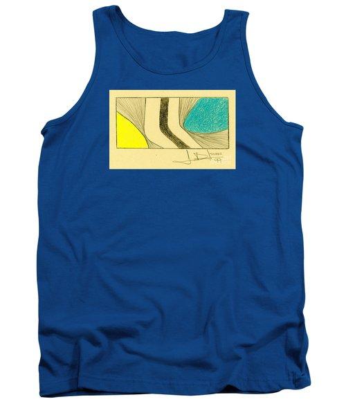 Waves Blue Yellow Tank Top