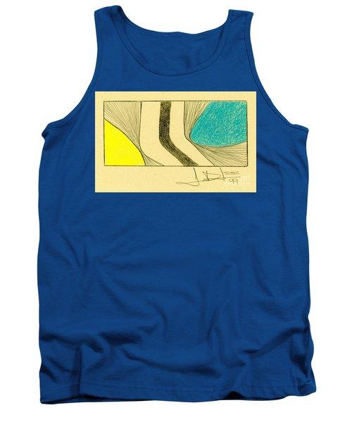 Waves Yellow Blue Tank Top