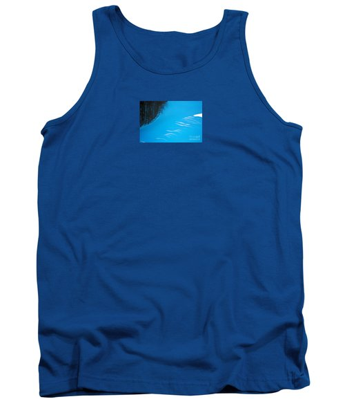 Tank Top featuring the photograph We Got The Blues - Winter In Switzerland by Susanne Van Hulst
