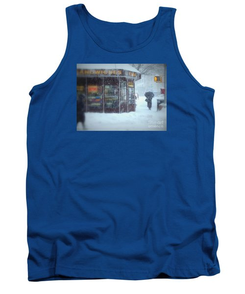 We Sell Flowers - Winter In New York Tank Top by Miriam Danar