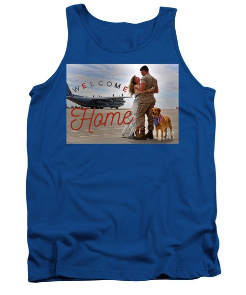 Tank Top featuring the digital art Welcome Home by Kathy Tarochione
