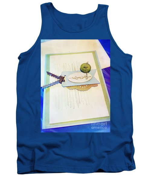 Welcome New Baby Handmade Stationary Tank Top