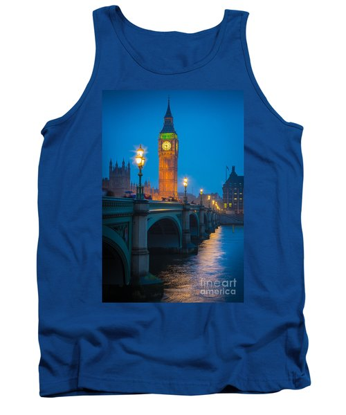 Westminster Bridge At Night Tank Top