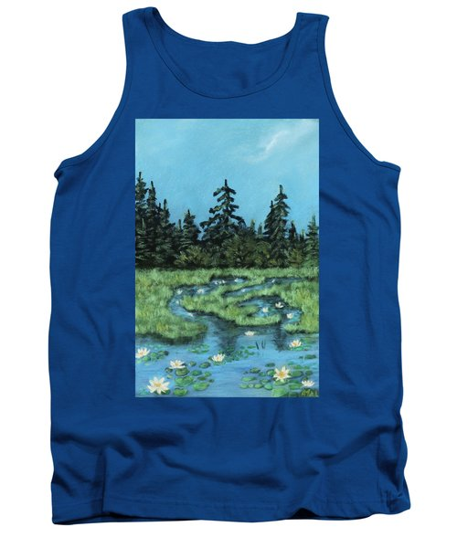 Tank Top featuring the painting Wetland - Algonquin Park by Anastasiya Malakhova