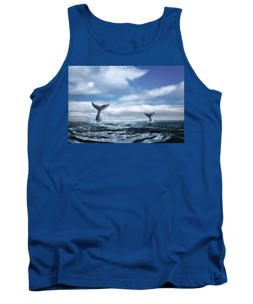 Tank Top featuring the photograph Whale Of A Tail by Tom Mc Nemar