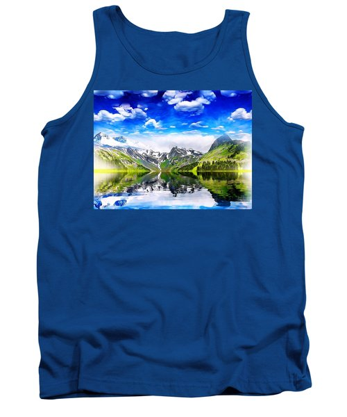 Tank Top featuring the mixed media What A Beautiful Day by Gabriella Weninger - David