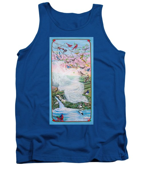 Tank Top featuring the painting   Whistling Angel-break Of Dawn   by Sigrid Tune