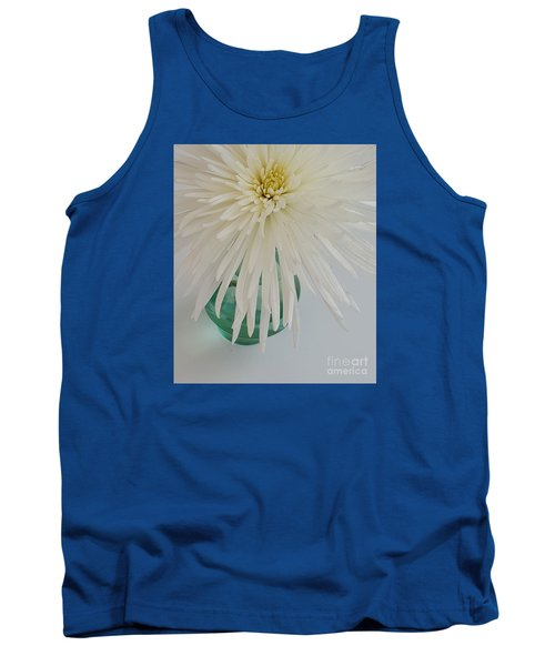 White Flower In A Vase By Jasna Gopic Tank Top by Jasna Gopic