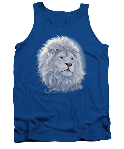White Lion Tank Top by Lucie Bilodeau