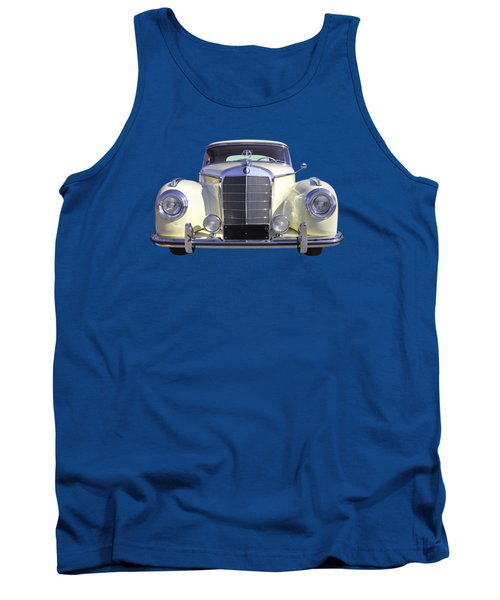 White Mercedes Benz 300 Luxury Car Tank Top by Keith Webber Jr