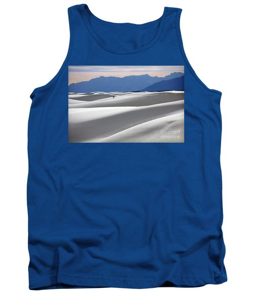 Tank Top featuring the photograph White Sands Hikers by Martin Konopacki