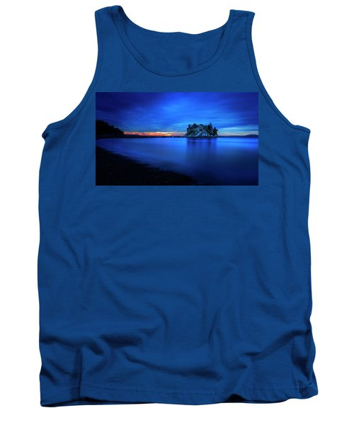 Tank Top featuring the photograph Whytecliff Sunset by John Poon
