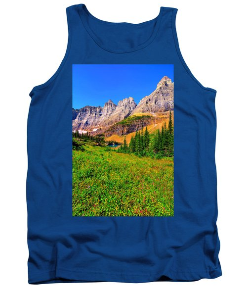 Tank Top featuring the photograph Wildflower Meadow Beneath The Ptarmigan Wall by Greg Norrell