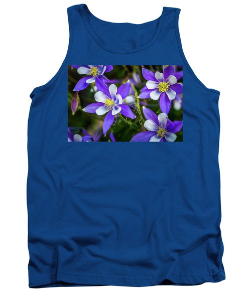 Wildflowers Blue Columbines Tank Top