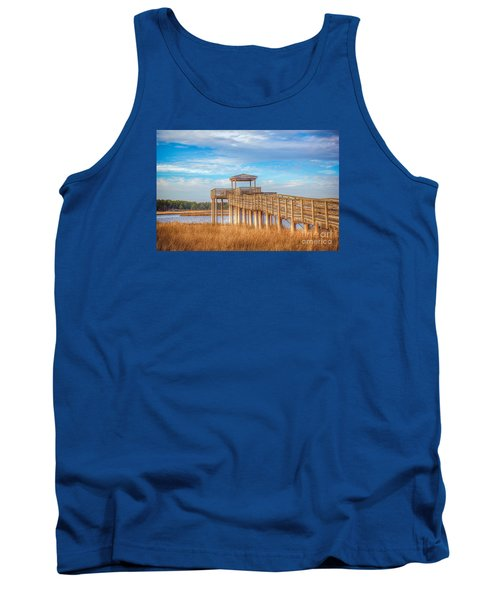 Wildlife Viewing Pier Tank Top by Marion Johnson