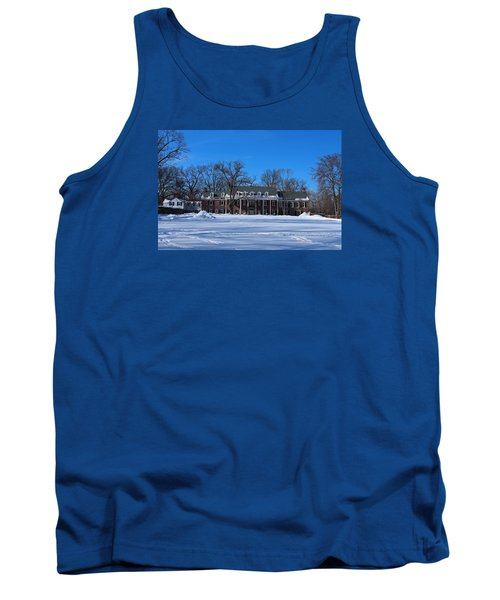 Wildwood Manor House In The Winter Tank Top